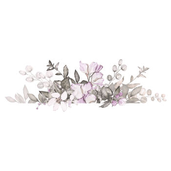 That´s Mine - Wallsticker - Flower Bouquet - Stor