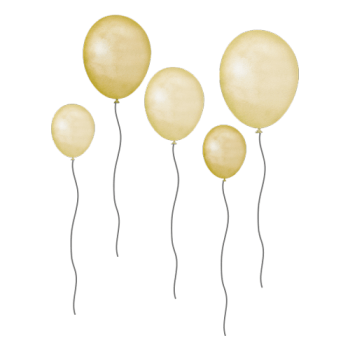 That´s Mine - Wallsticker - Balloons - Yellow - 5 stk.