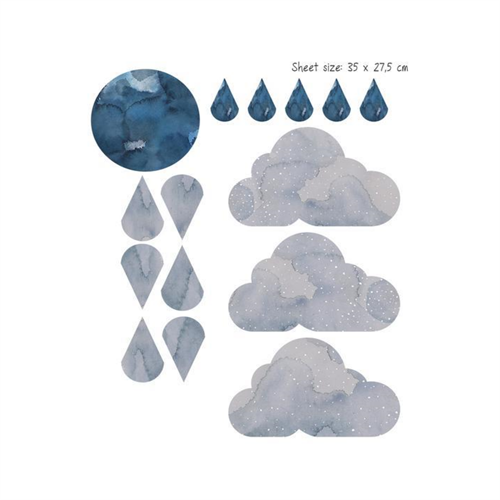 Fabelab - Dreamy Clouds Nightfall wallstickers