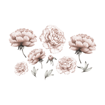 That´s Mine - Wallsticker - Peony Flowers