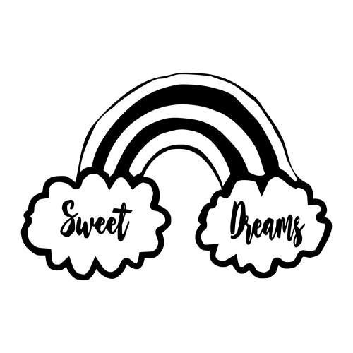 "Wall Goodie - ""Sweet dreams"" Rainbow"